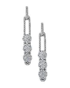 Hulchi Belluni - 18K White Gold Tresore Diamond Linear Earrings