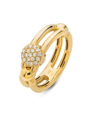 Hulchi Belluni 18K Yellow Gold Tresore Diamond Single Ring