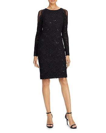 Ralph Lauren - Sheer-Inset Sequin Lace Dress