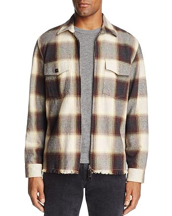7 For All Mankind - Plaid Zip Shirt Jacket