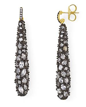 Freida Rothman Gilded Cable Pebble Earrings