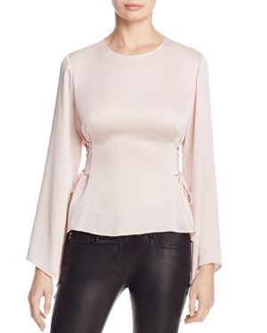 Vince Camuto Bell Sleeve Lace-Up Side Blouse - 100% Exclusive