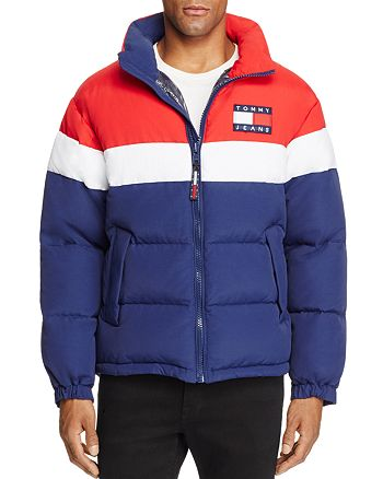 09786b855 Tommy Hilfiger - Tommy Jeans 90's Retro Color-Blocked Puffa Jacket - 100%  Exclusive