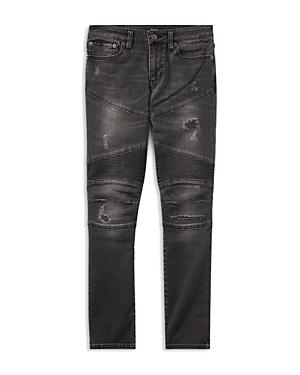 Ralph Lauren Childrenswear Boys' Distressed Skinny Moto Jeans - Big Kid