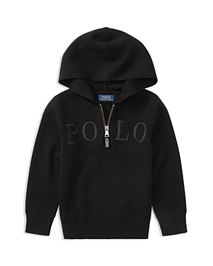 Ralph Lauren Childrenswear Boys QuarterZip Polo Hoodie  Little Kid