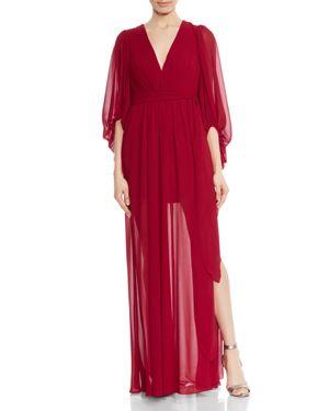 Halston Heritage Plisse Pleated Gown