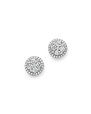 Bloomingdale\\\'s Diamond Cluster Stud Earrings in 14K White Gold, .75 ct. t.w. - 100% Exclusive-Jewelry & Accessories