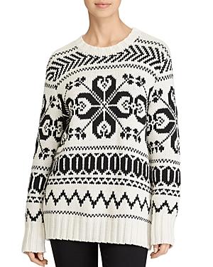Lauren Ralph Lauren Graphic Knit Crewneck Sweater