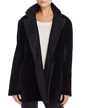Theory Clairene Shearling Coat