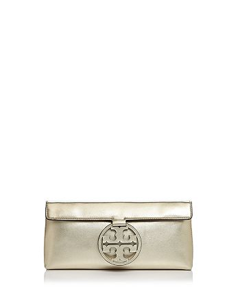 40d2cd9f2019 Tory Burch - Miller Metallic Leather Clutch