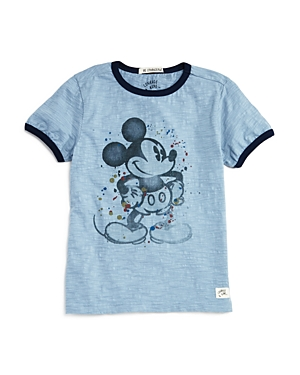 Courage & Kind Boys' Mickey Mouse Ringer Tee, Little Kid - 100% Exclusive