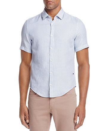 BOSS Hugo Boss - Printed Dobby Woven Short Sleeve Button-Down Shirt