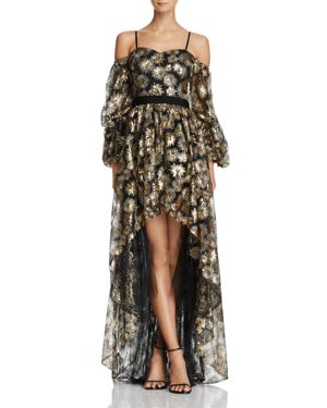 Zendaya x Aqua Firework Sequined Cold-Shoulder Gown - 100% Exclusive