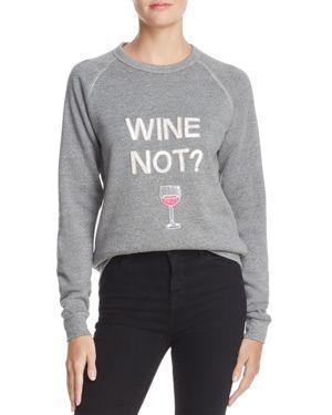 Bow & Drape Wine Not Applique Sweatshirt - 100% Exclusive