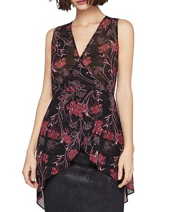 BCBGeneration - Printed Faux-Wrap Tunic