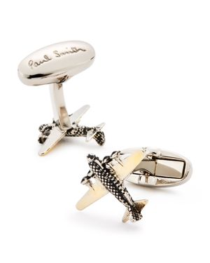 PAUL SMITH Airplane Cuff Links, Brass/Copper