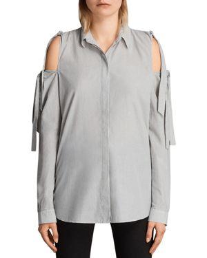 Allsaints Evelyn Cold-Shoulder Shirt