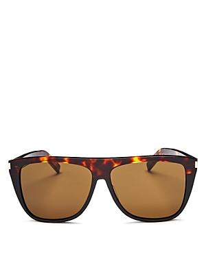 Saint Laurent Sunglasses WOMEN'S FLAT TOP SQUARE SUNGLASSES, 59MM