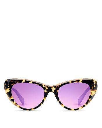 Krewe - Women's Irma Mirrored Cat Eye Sunglasses, 51mm