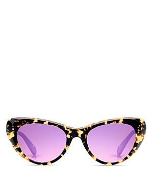 Krewe Irma Mirrored Cat Eye Sunglasses, 51mm