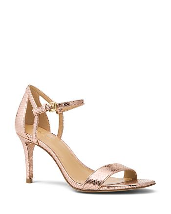 MICHAEL Michael Kors - Women's Simone Leather Mid Heel Sandals