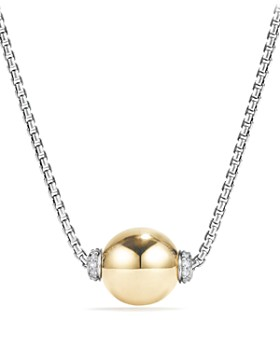 David Yurman - Solari Pendant Necklace with Diamonds and 18K Gold