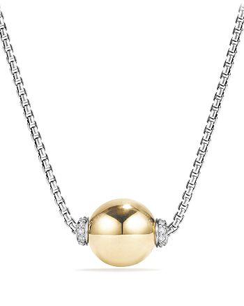 David Yurman - Solari Pendant Necklace with Diamonds and 18K Gold