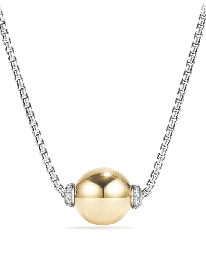 David Yurman Solari Pendant Necklace with Diamonds and 18K Gold    Bloomingdale's