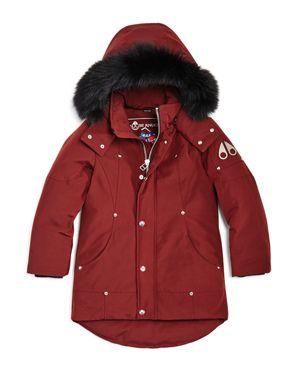 Moose Knuckles Boys' Fur-Trimmed Parka - Little Kid, Big Kid