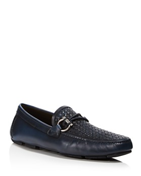 Salvatore Ferragamo - Men's Front 2 Gancio Textured Drivers