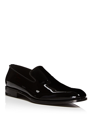Salvatore Ferragamo Men's Class Patent Leather Loafers