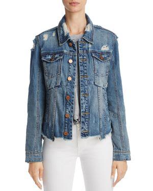 Blanknyc Sneak Peek Paneled Distressed Denim Jacket