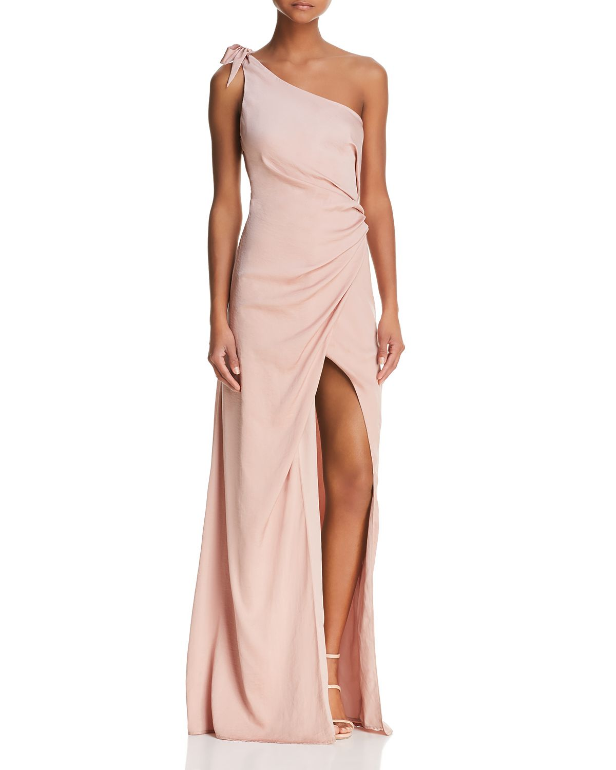 Jordana One Shoulder Gown by Stylestalker