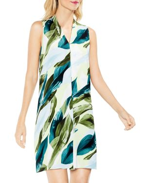 Vince Camuto Breezy Leaves Printed Shift Dress