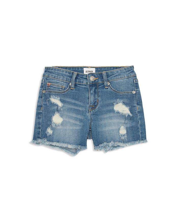 Hudson - Girls' Destroyed Denim Shorts - Little Kid