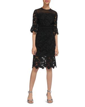 AMANDA SCALLOPED LACE DRESS
