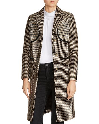Maje - Galilee Mixed-Print Coat