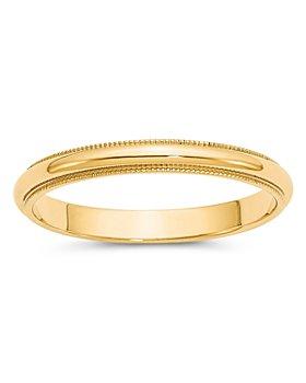Bloomingdale's - Men's 3mm Milgrain Half Round Wedding Band 14K Yellow Gold - 100% Exclusive