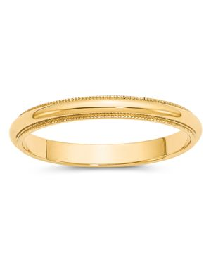Bloomingdale's Men's 3mm Milgrain Half Round Wedding Band 14K Yellow Gold - 100% Exclusive