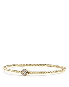 David Yurman - Solari Station Pavé Bracelet with Diamonds in 18K Gold