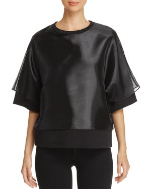 Kenneth Cole Layered-Look Oversized Sweatshirt