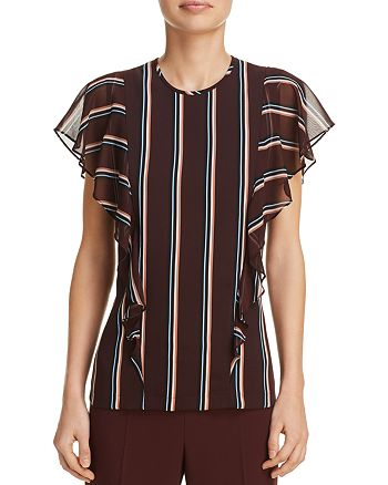 BOSS - Ipapilia Striped Flutter Top