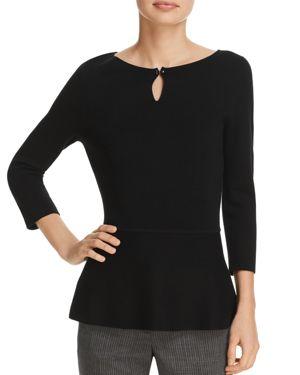 Boss Fylle Keyhole Virgin Wool Sweater