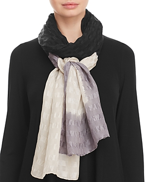 Eileen Fisher Textured Silk Tie-Dye Scarf at Bloomingdale's