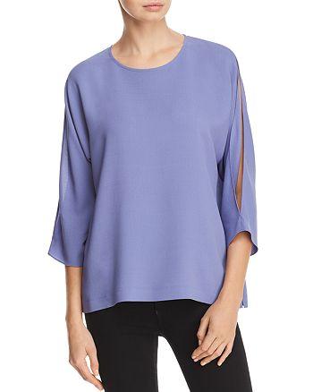 Eileen Fisher - Split-Sleeve Silk Top