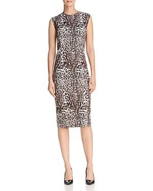 Donna Karan Animal Print Sheath Dress