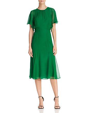 Donna Karan - Fit-and-Flare Silk Dress