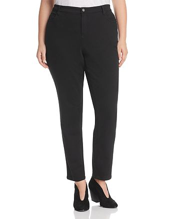 Eileen Fisher Plus - Skinny Jeans in Black