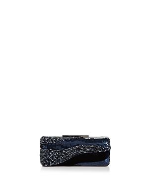 Sondra Roberts Embellished Velvet Box Clutch