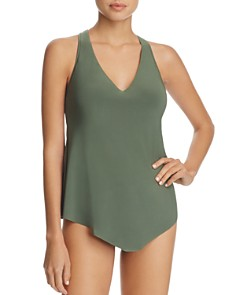 Magicsuit - Solid Taylor Tankini Top & Solid Jersey Shirred Bikini Bottom